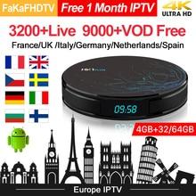 HK1 Plus IPTV Europa pudełko pełne Hd IPTV francja arabski turcja niemcy wielka brytania IPTV włochy portugalia hiszpania Italia IP TV Android 8.1 Tv Box