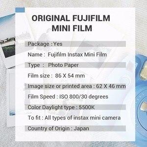 Image 5 - Новинка 2017 года поступление Подлинная Fujifilm Instax Mini черный границы Плёнки 10 Простыни детские для Mini. 8 плюс 70 90 25 50 s Камера поделиться SP 1 SP 2