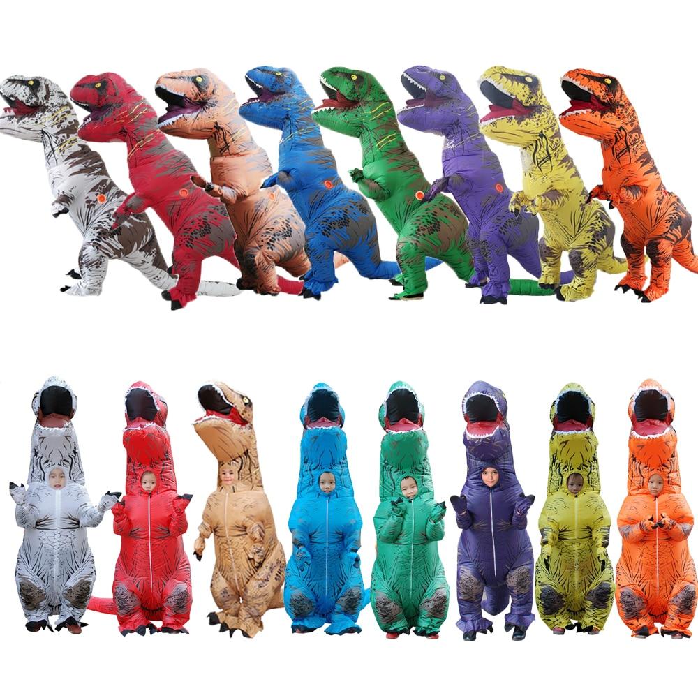 أحدث نفخ الديناصور تي ريكس العالم الجوراسي بارك نسف الديناصور تأثيري نفخ زي حزب حلي للبالغين