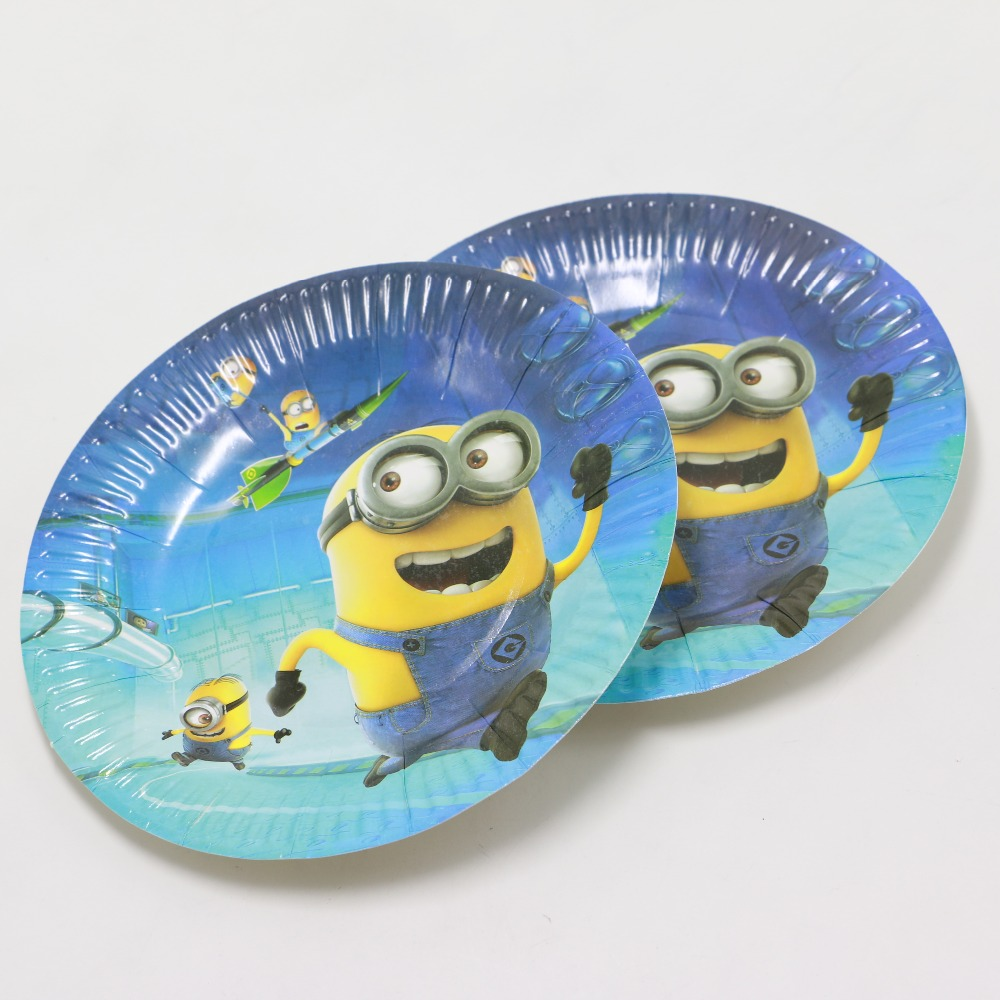 kids boys birthday party supplies Despicable Me Plates Children Minions Paper Plates Cake Dish 10pcs/lot for Event Party on Aliexpress.com   Alibaba Group & kids boys birthday party supplies Despicable Me Plates Children ...