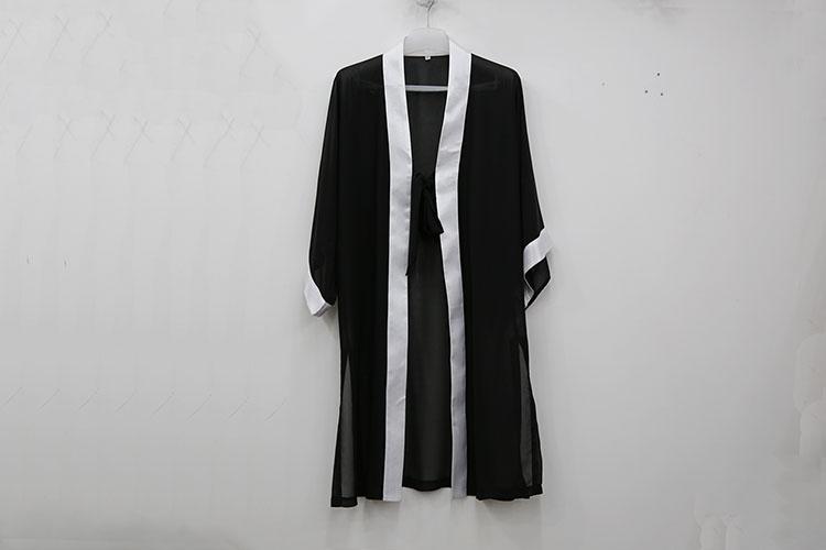 unisex 7colors Wudang high grade chiffon serging mantle tai chi clothing wushu veil robe suit Martial
