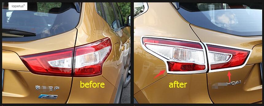 ABS ! Accessories For Nissan Qashqai J11 2014 2015 2016 2017 Chrome Rear Trunk Headlight Tail Light Lamp Molding Cover Kit Trim