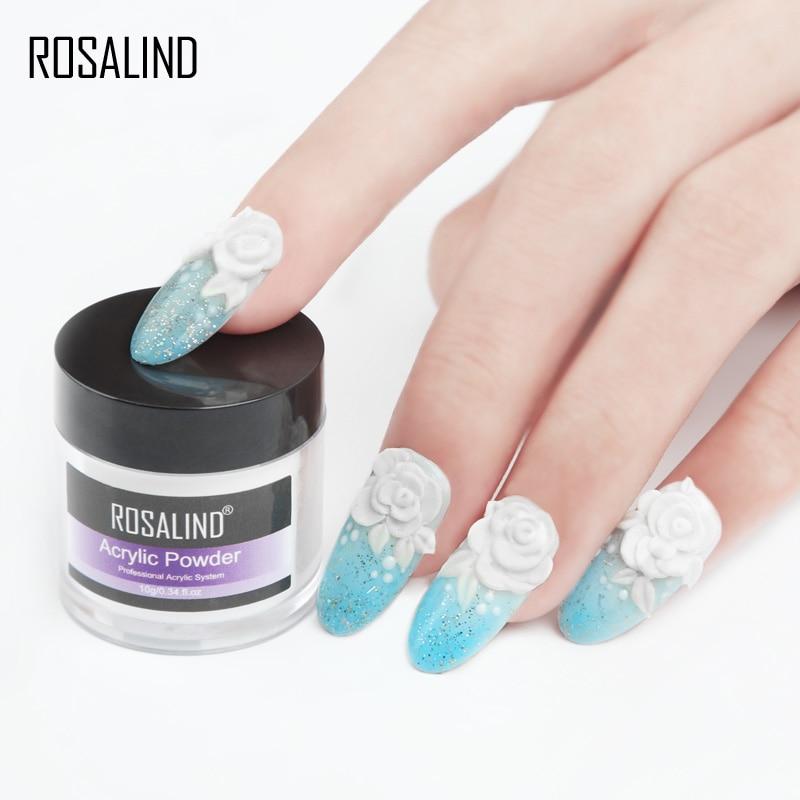 Акриловый порошок ROSALIND, полигель для ногтей, лак для ногтей, украшения для дизайна ногтей, набор для маникюра с кристаллами, профессиональные аксессуары для ногтей 4