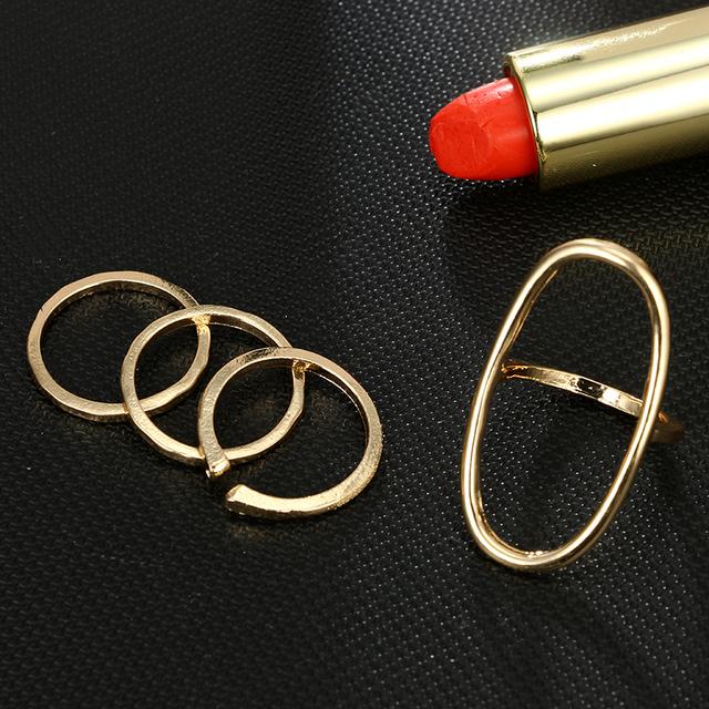 Oval Shape Ring Set