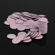 50Pcs Pink Dental Lab Polishing Wheels Burs Silicone Polishers Disk Coarse Pink