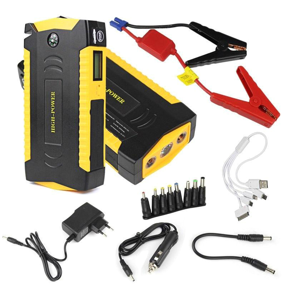 600A Peak 13600mAH Car Jump Starter Power pack and Four USB Power Bank with LED Flashlight for Truck Motorcycle Boat AU Plug 20000mah portable car jump starter battery booster with usb power bank led flashlight for truck motorcycle boat