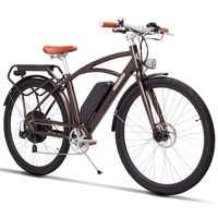 700c batería de litio de bicicleta eléctrica de velocidad variable bicicleta eléctrica retro 48V 500w ciudad e-bike