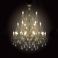 2014 New Design Creative Wrought Iron Light Lustres Crystal Chandelier Fixtures Pendant Lamps Lustre Decorative GY