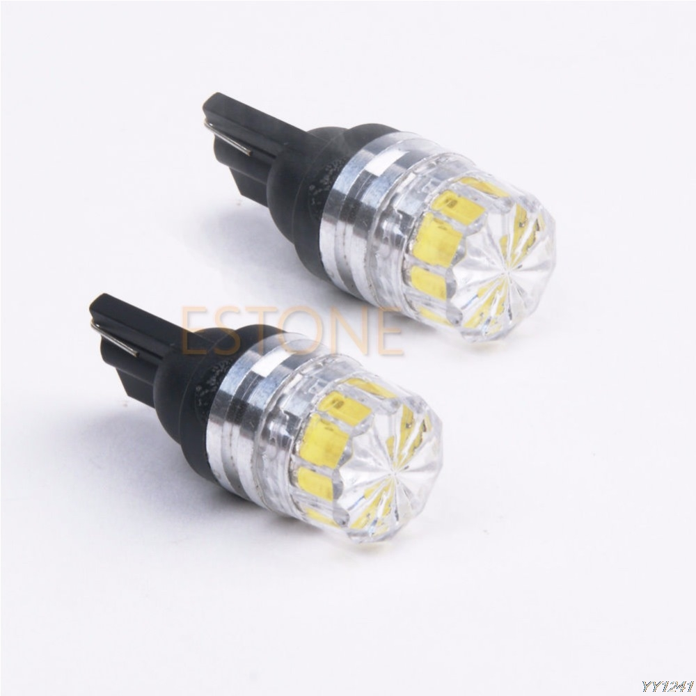 High Quality 1 PC New White T10 5050 5 SMD LED Car Vehicle Side Tail Lights Bulbs Lamp image