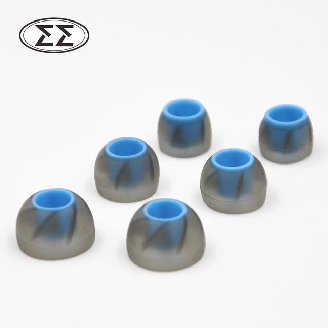 3 pairs lmsでイヤーチップイヤフォンヘッドフォンをシリコーンイヤチップ用kz ed10 ed8mユニバーサルイヤフォン耳パッド送料無料e89