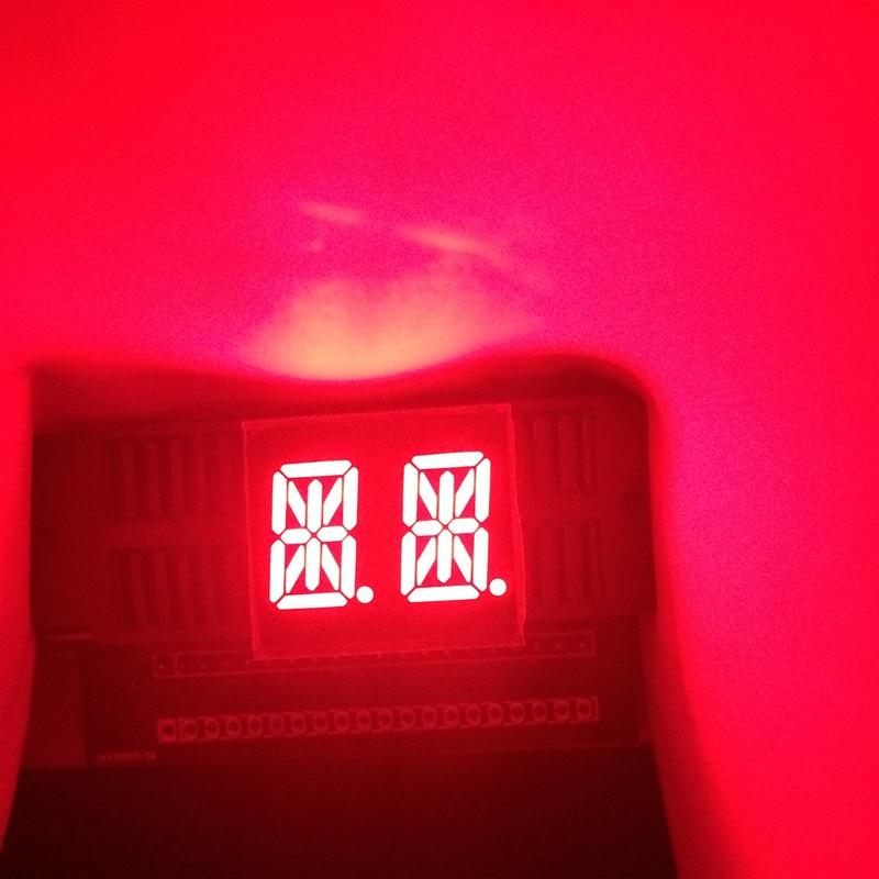 0.54inch 14 segments LED Display 2Block 2Bits 2Characters Digit RED CA