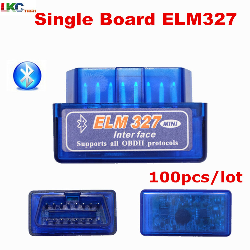100 шт./лот V1.5 одноплатный мини ELM327 <font><b>Bluetooth</b></font> ELM 327 версия V1.5 OBD2/OBDII для <font><b>Android</b></font> Крутящий момент код читателя и инструмент сканер