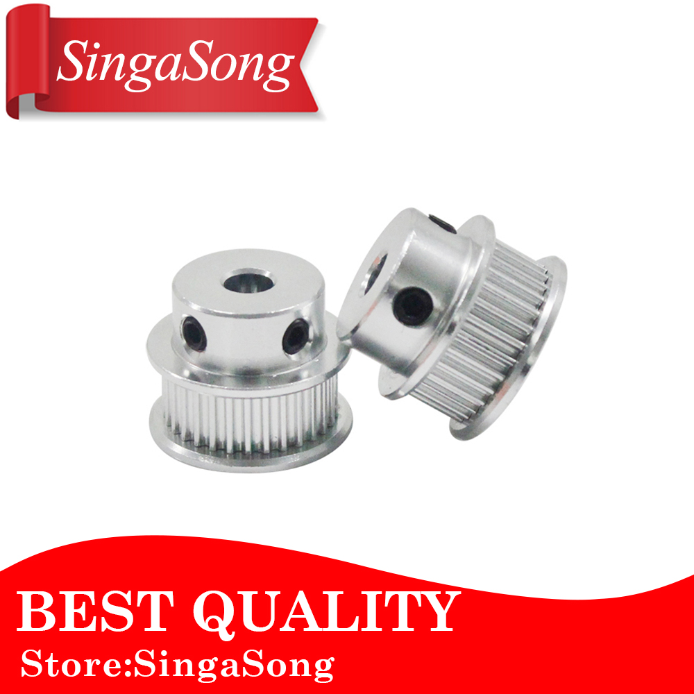 цена 1pcs/lot Alumium GT2 40teeth 40 Tooth Timing Pulley Bore 5mm 8mm for 6mm Width GT2 Belt 2GT pulley (40 Teeth)