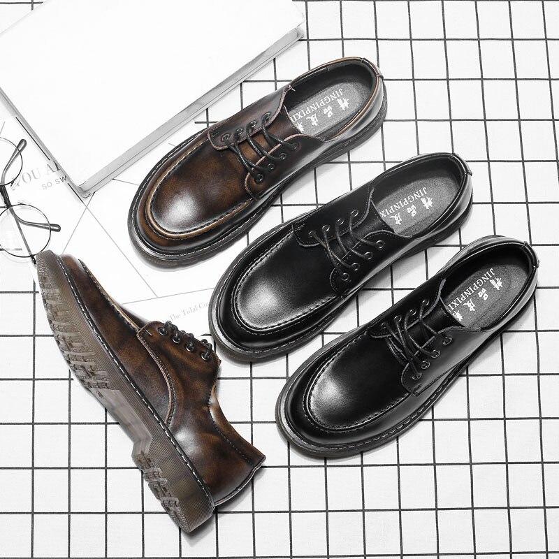 37 44 Genuine Leather Shoes Men luxury brand designer elegant fashion mens shoes XYD9666