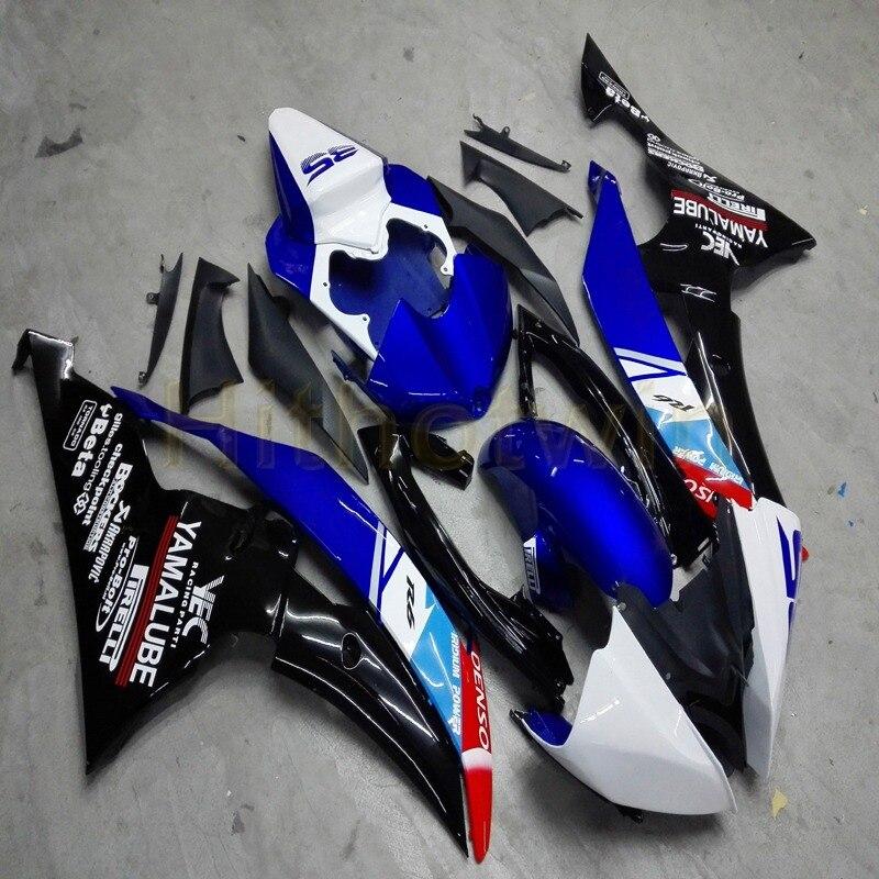 Custom ABS Fairing Kits For YZFR6 2008 2009 2010 2011 2012 2013 2014 2015 2016 Fairing YZF-R6 08-16 Blue  Black M2