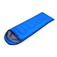 1pc Outdoor Camping Sleeping Bag Warm Envelope Hooded Winter Sleeping Bags Adult Travel Sleep Bag S0H23