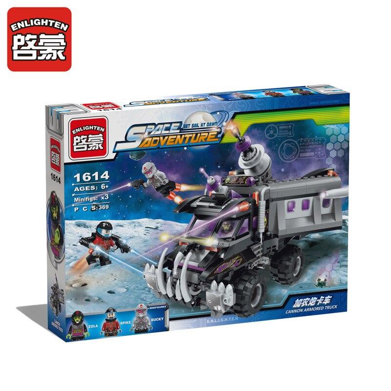 ENLIGHTEN Interstellar Adventure Series Cannon Truck Building Blocks Education Toys Brick The  For Children The Best Gift кратон smart wi 180