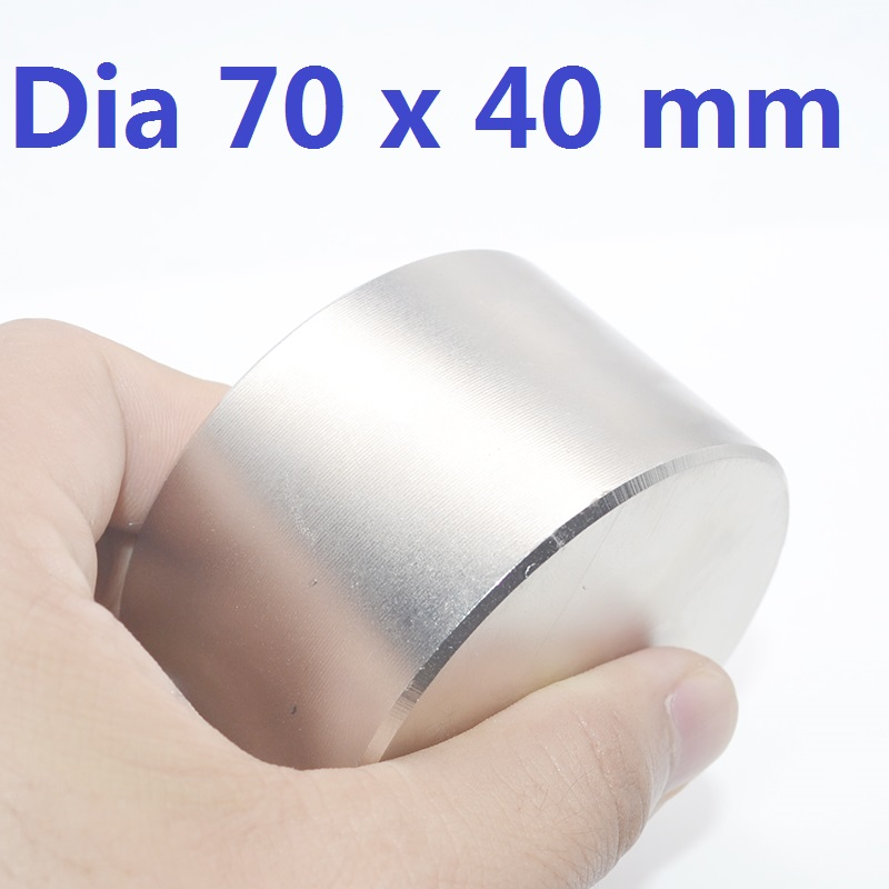 1PC N52 Dia 70mm 60mm <font><b>50mm</b></font> 40mm 30mm 25mm 15mm Super strong round Neodymium <font><b>magnet</b></font> strongest permanent powerful magnetic image