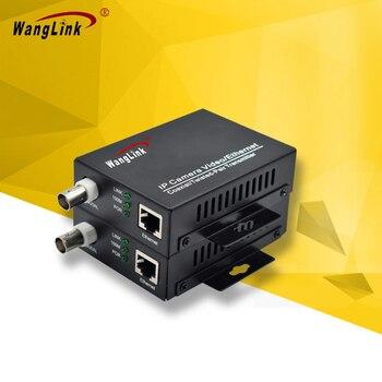WangLink conversor analógico para o ip câmera IP 100 M ethernet Extensor Coaxial conversor analógico para o ip