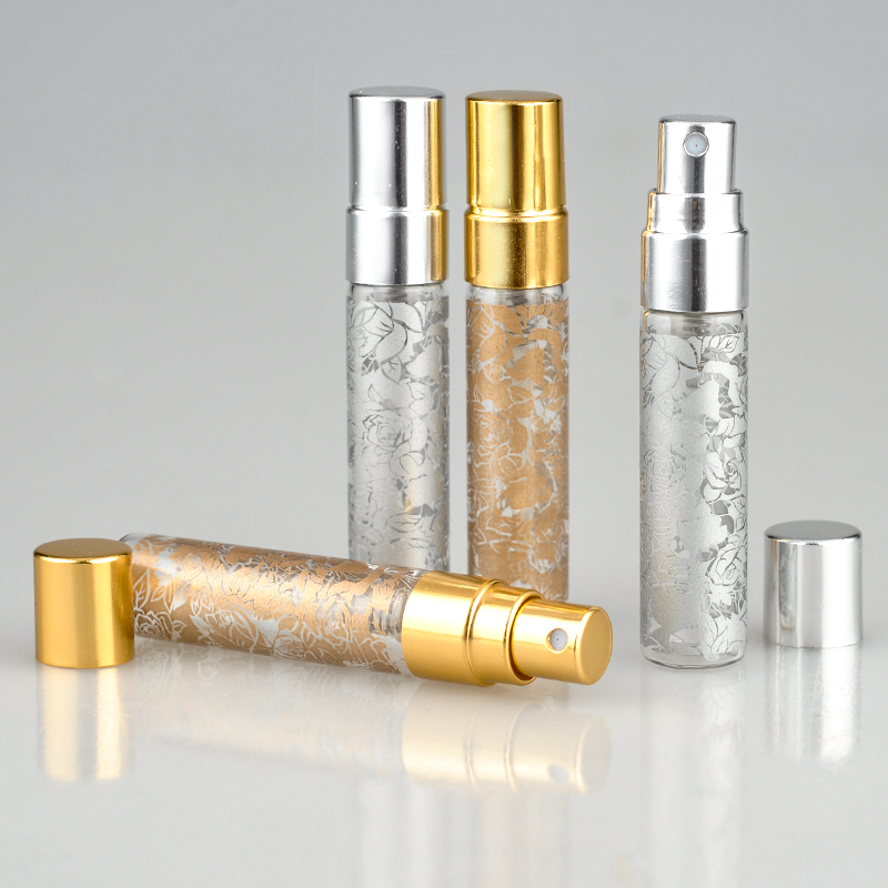 100Pieces Lot 5ML Printing Parfum Travel Spray Bottle For Perfume Portable Empty Cosmetic Containers With Aluminium