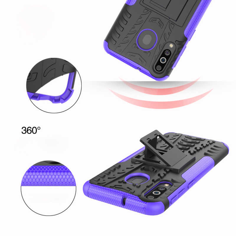 30pcs/lot Shockproof Tyre Hard Case For Samsung Galaxy A2 Core Removable Rugged Armor Case With Stand For Samsung Galaxy M30