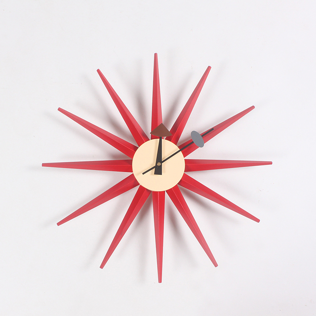 CW08 Factory Direct Wooden Multi Color Sunburst Wall Clock Manufacturers Of  Professional Designers Clock Wholesale Wall