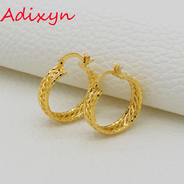 Adixyn Gold Hoop Earrings For Women S Color Copper Arab Jewelry Ethiopian African