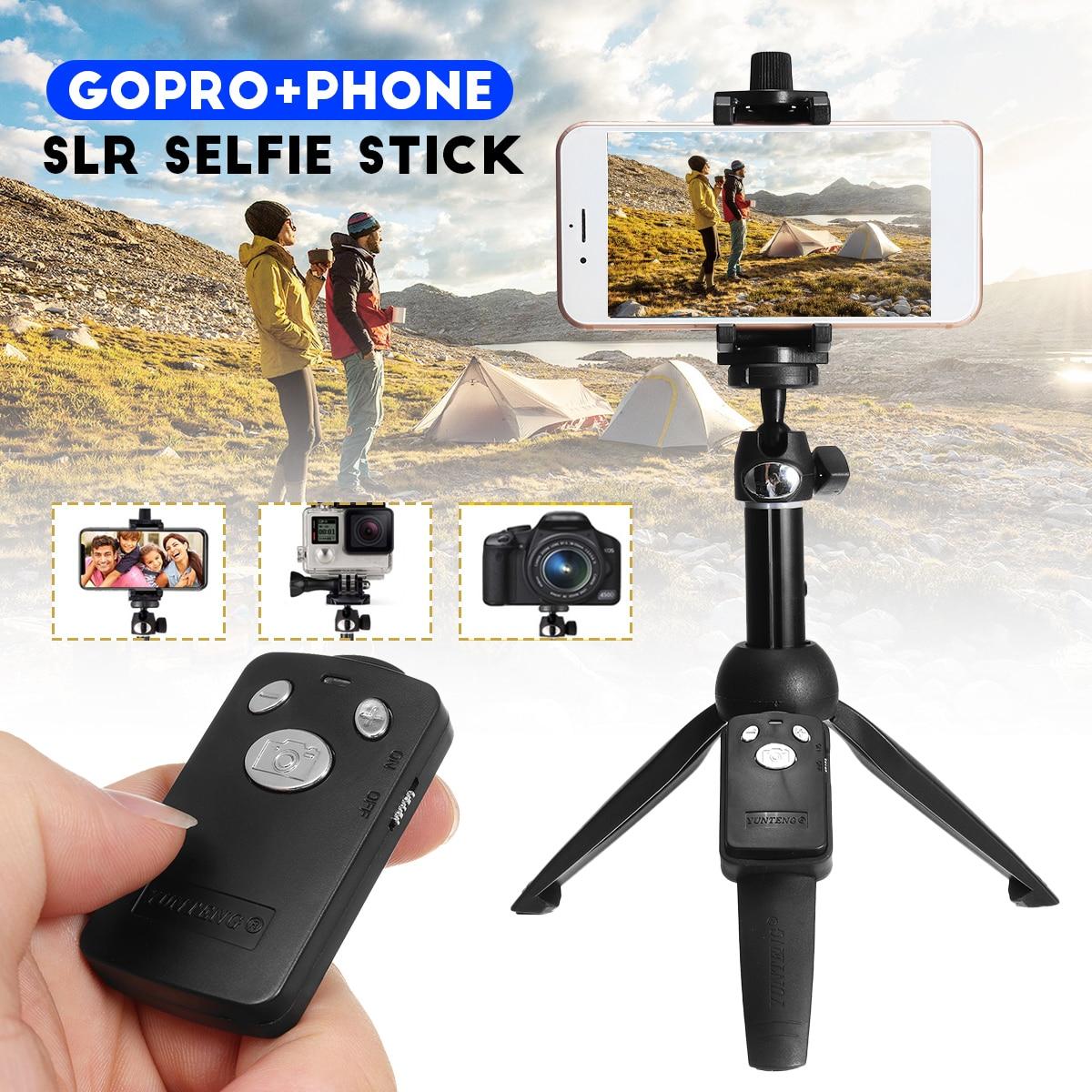 Handheld Selfie Varas de Ação Esporte Câmera SLR Tripé Monopé para GoPro Smartphones om Remoto Do Obturador para o iphone para Samsung