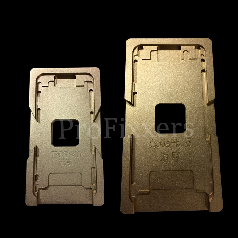 2pcs/lot Aluminium Mould For iPhone 6/6S 4.7,iphone 6/6S plus 5.5 Laminator mold metal jig for front glass with frame Location ha ha die mold manipulator accessories big big jig jig mold with a switch ha ha mold manipulator assembly