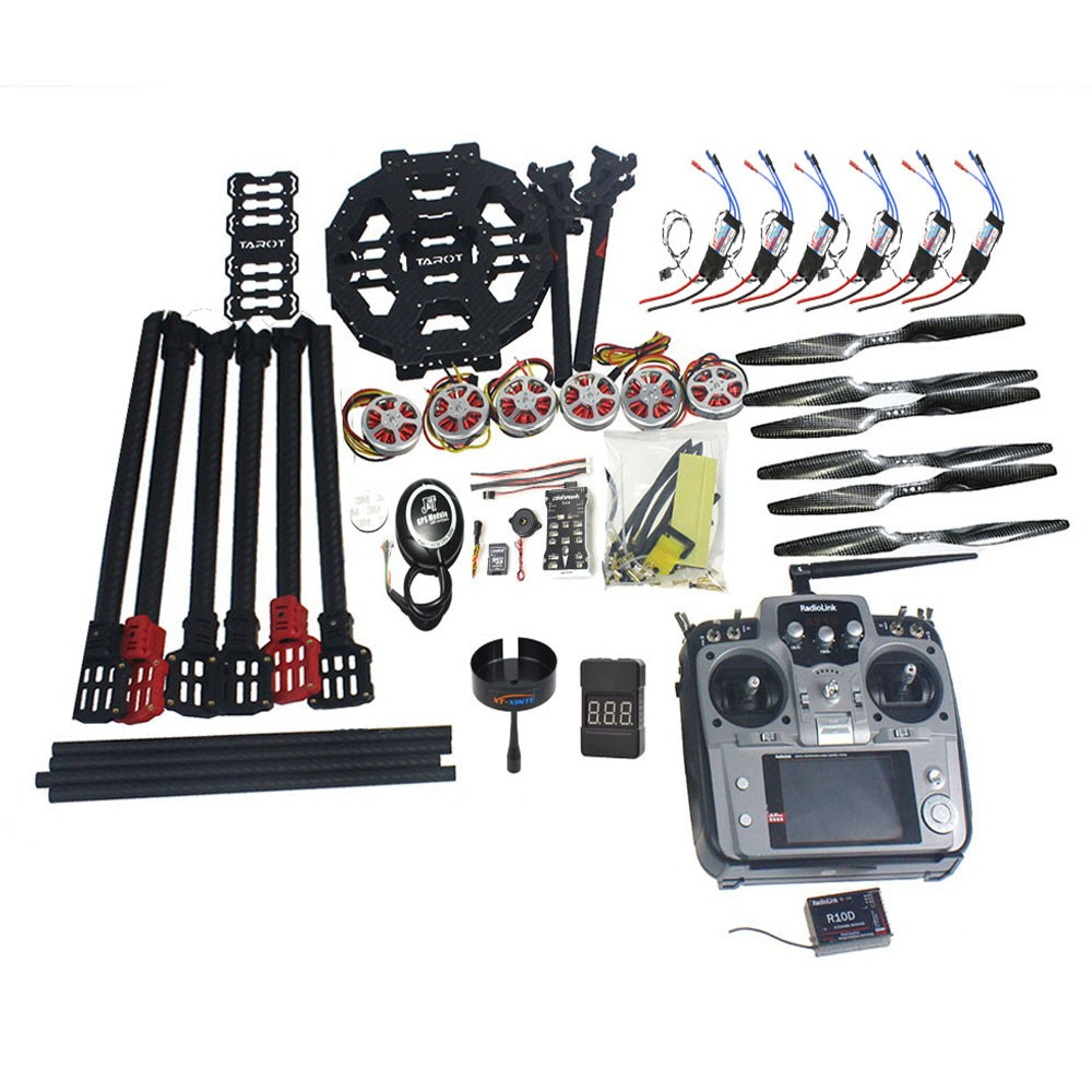 ARF/PNP Full Set Hexacopter GPS Drone Aircraft Kit Tarot FY690S Frame 750KV Motor PIX 2.4.8 32 Bit Flight Controller F07803-C