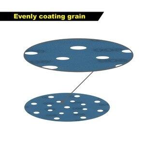 Image 4 - 45PCS 6 Inch 150mm 17 Holes Soft Film Sanding Disc Sandpaper 600 to 5000 Grits for Wet/Dry Automotive Paint Sanding
