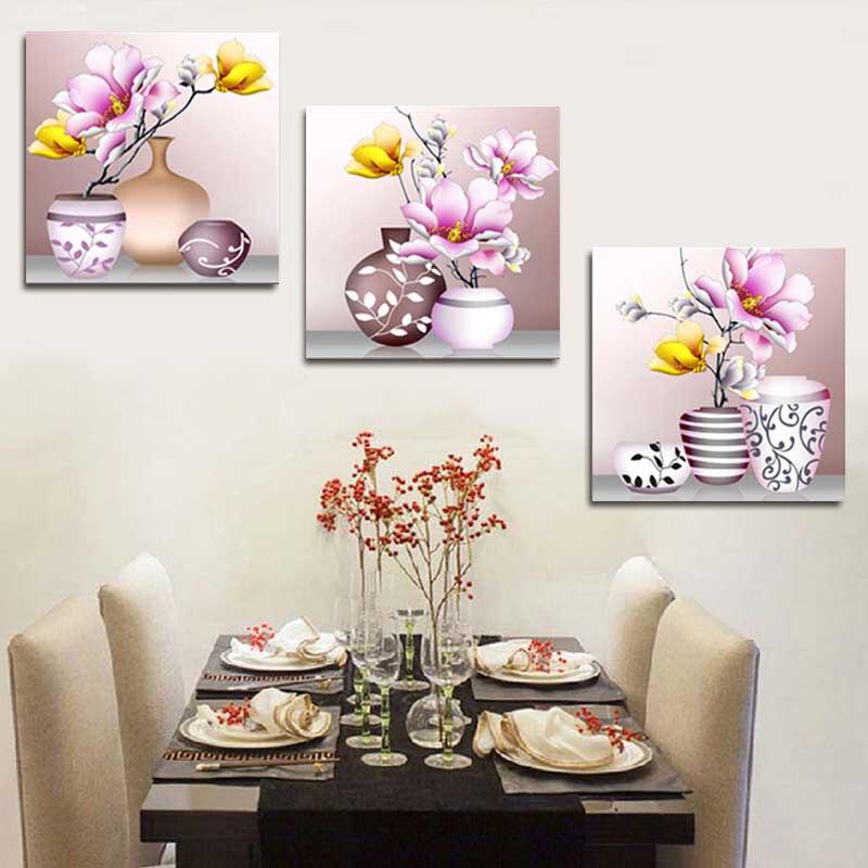 DIY chino Cruz puntada Sets para Bordado Kit, moda florero arte ...