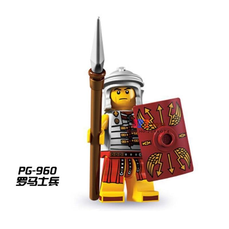 50pcs starwars superhero building The Roman soldiers blocks bricks friends for girl boy Gift children toys brinquedos menina
