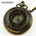 Men's Classic Steampunk Skeleton Lady Hand-winding Mechanical Pocket Watch Gold Color Clock Magic Design Fashion Casual Watches