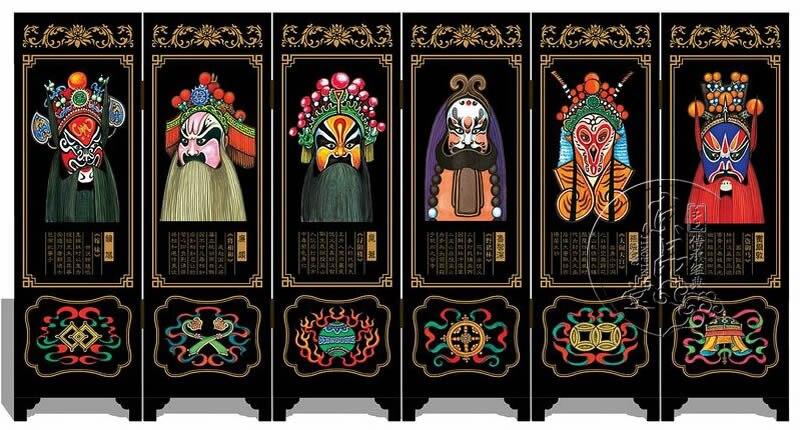 24 modèles Original Style chinois Antique laque écrans série caractéristiques de décoration artisanat meubles cadeaux d'affaires
