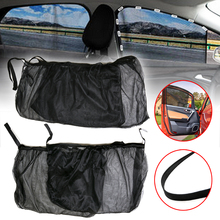 Mayitr 4pcs Auto Sunshade Curtain Set Front+Rear Side Car Window Sun Shade Shield UV Mesh Large Cover for Accessories