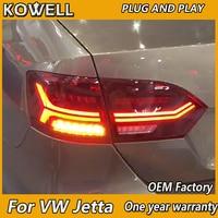 KOWELL Car Styling For Volkswagen Jetta MK6 Tail Light 2012 2014 LED DRL Brake Moving Yellow Turning Reverse light Rear Lamp