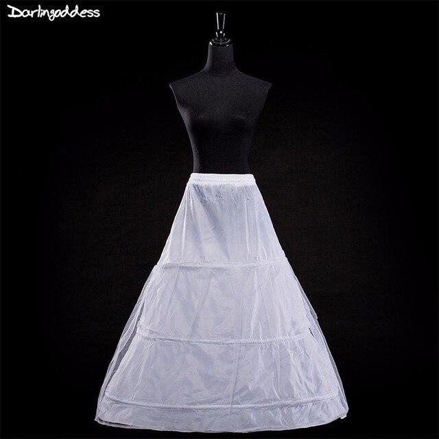 084dec5426d145 2018 haute qualité pas cher blanc 3 cerceaux jupon grande taille jupons  pour robes de mariée sous-jupe accessoires de mariage en Stock