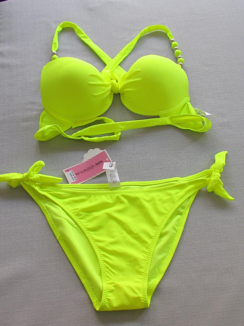 Bikini push up triangle swimsuit swimwear women bikinis set pants side lacing high elastic 19 10