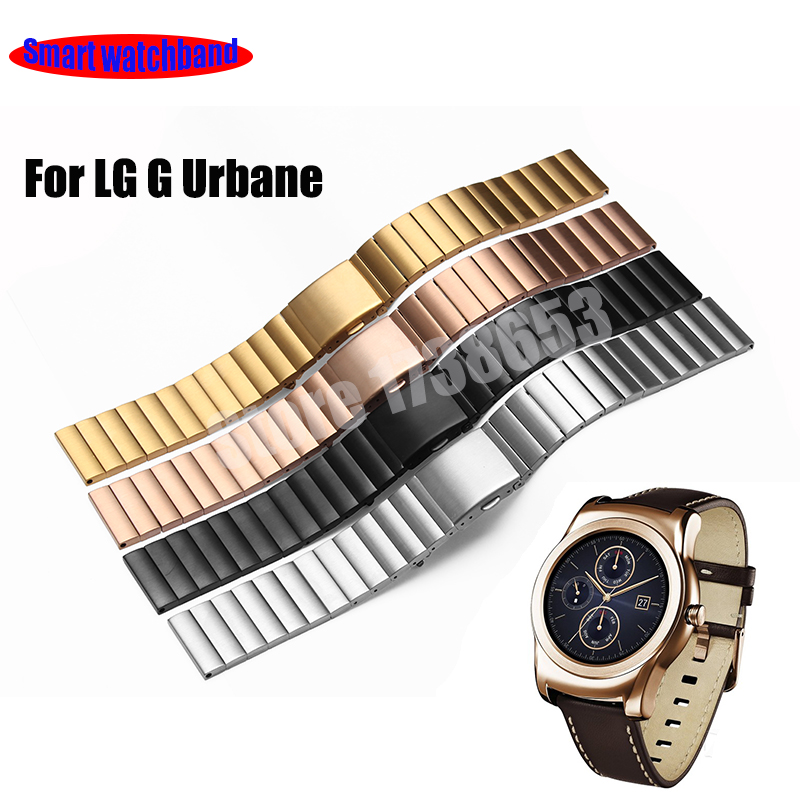 Smart Watchband Quality Solid Stainless Steel Watch band 22mm LG G Watch Urband W150 Strap Mens  Smart watches accessories new arrival solid stainless steel watchband 22mm 24mm luxury fine steel watch strap for mens