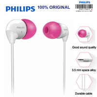 Philips SHE3501 In Ear Earphone Flat Head Earbuds 3 5mm Wired Headsets Super Bass Earphones For