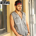 promotion Male knitted vest men's man fashion casual sleeveless sweater with a hood fashion sleeveless vest free shipping