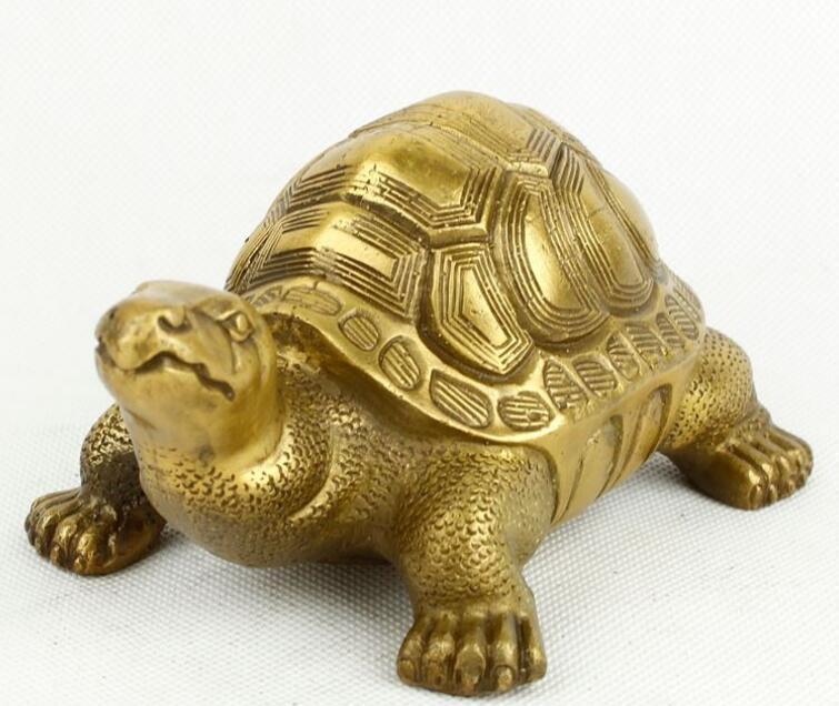 Laiton cuivre tortue articles d'ameublement feng shui tortue dieu tortue