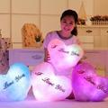 1 pcst Плюшевое Сердце Подушку Изменение Цвета Световой Подушку Мигающий СВЕТОДИОД свет Игрушки Светящиеся В Темноте Дети Игрушки Подарок для дети