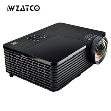 WZATCO 300 inch 5000ANSI 6000 ultra corto alcance DLP 3D Proyector de Luz Al Aire Libre 1080 P HDMI USB RJ45 para los Negocios publicidad de la Educación