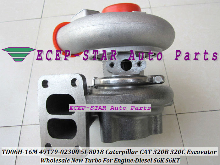 TD06 TD06H 16M 49179 02300 5I 8018 5I 8018 Turbo Turbocharger For Caterpillar CAT 320B 320C 320D 323D 320L Excavator S6K S6KT