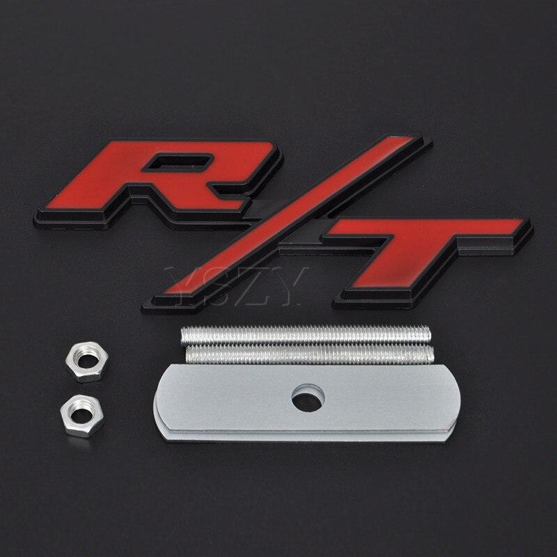 R Red Metal Grille Emblem Sticker Badge Motorsports rline Turbocharged  3D Car