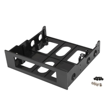 """Cewaal Professional 3.5"""" to 5.25"""" Drive Bay Computer Case Adapter Mounting Bracket USB Hub Floppy Harddisk Boxs"""