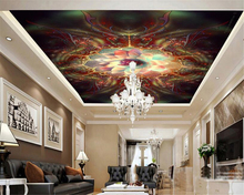 beibehang Classic fashion personality wallpaper dream Abstract lotus luxurious ceiling painting mural for walls 3 d