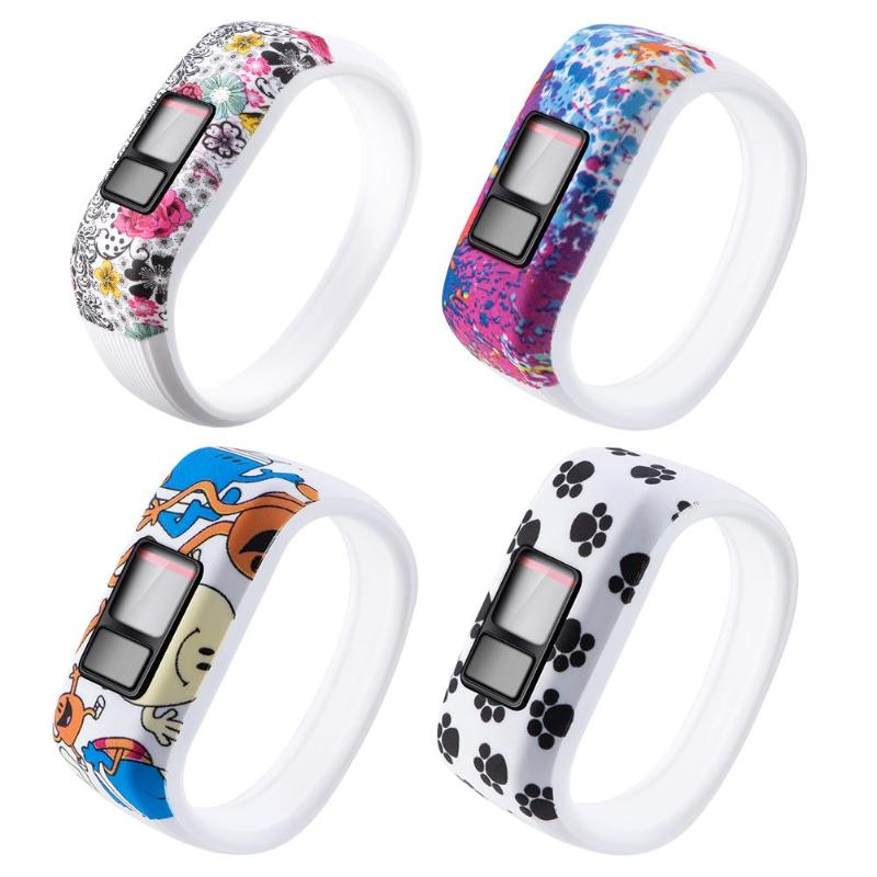 Silicone Printed Wrist Band Strap for Garmin Vivofit JR//JR2//Vivofit 3 S *DC